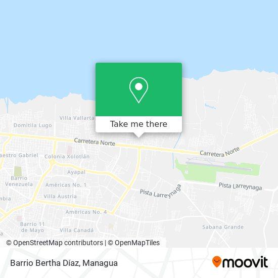 Barrio Berta Diaz map