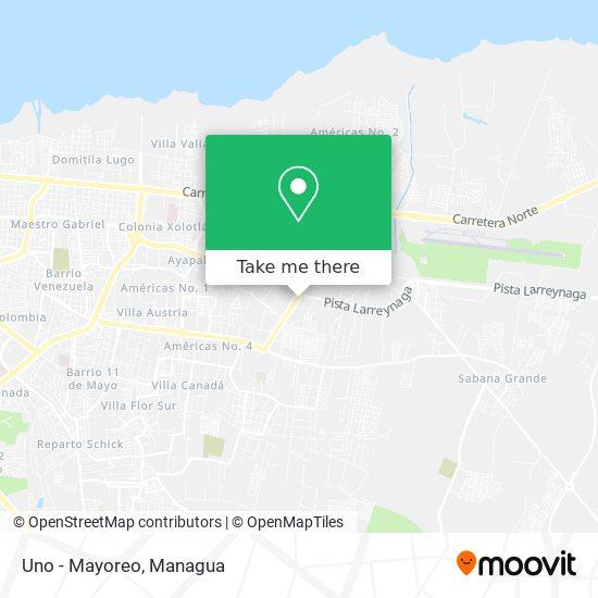 Uno - Mayoreo map