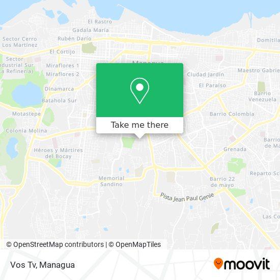 Vos Tv map