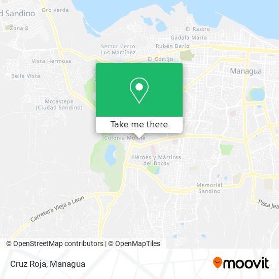 Cruz Roja map