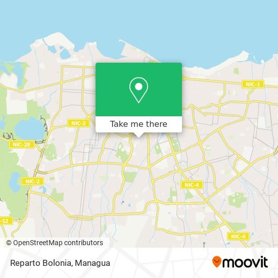 Reparto Bolonia map