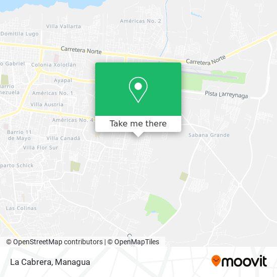 La Cabrera map