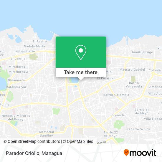 Parador Criollo map