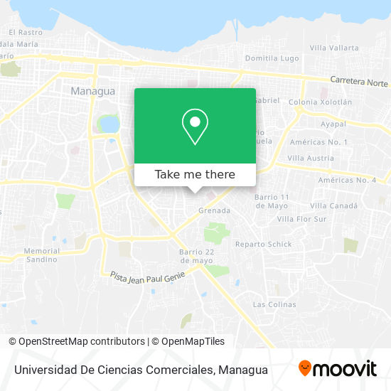 Universidad De Ciencias Comerciales map