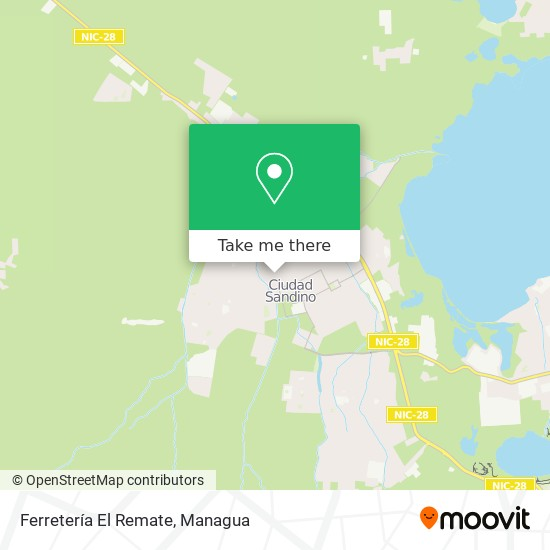 Ferretería El Remate map