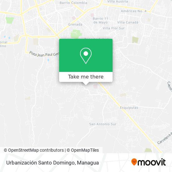 Urbanización Santo Domingo map