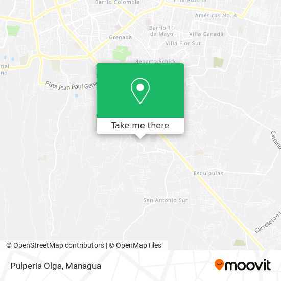 Pulperia Olga map