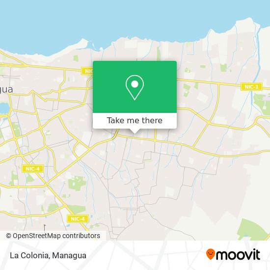 La Colonia map