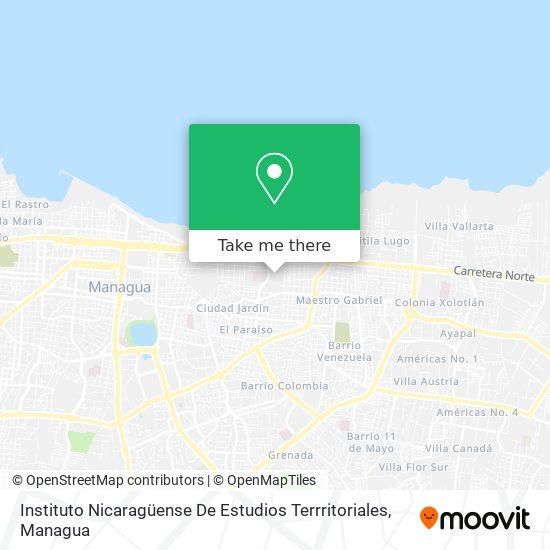 Instituto Nicaragüense De Estudios Territoriales - Ineter map