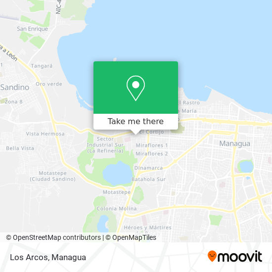 Los Arcos map