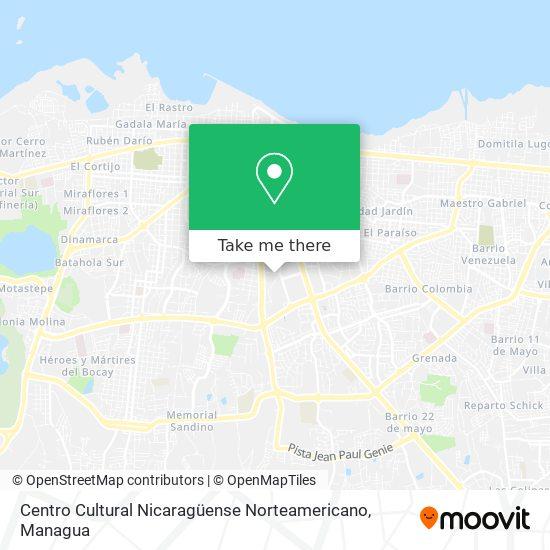 Centro Cultural Nicaraguense Norteamericano map