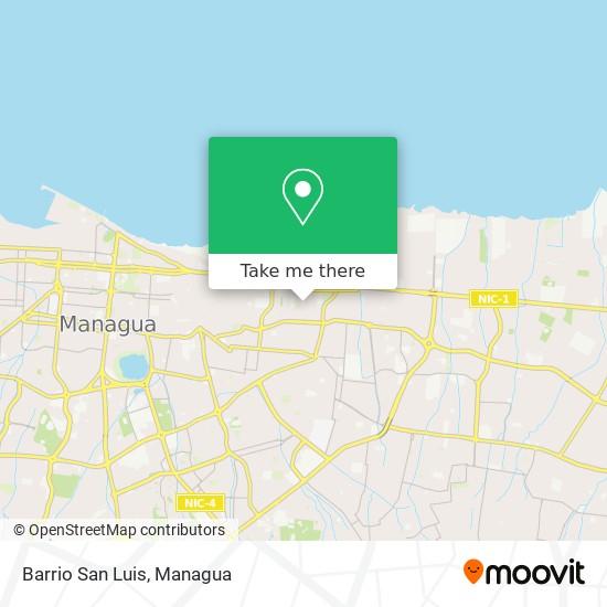 Barrio San Luis map