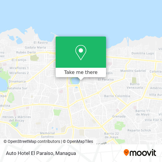 Auto Hotel El Paraiso map