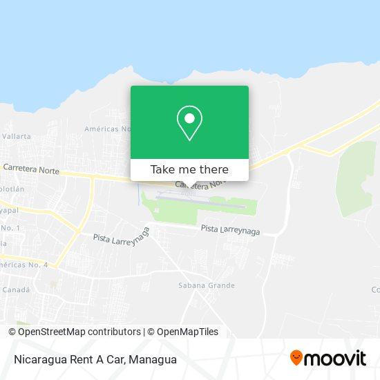 Nicaragua Rent A Car map
