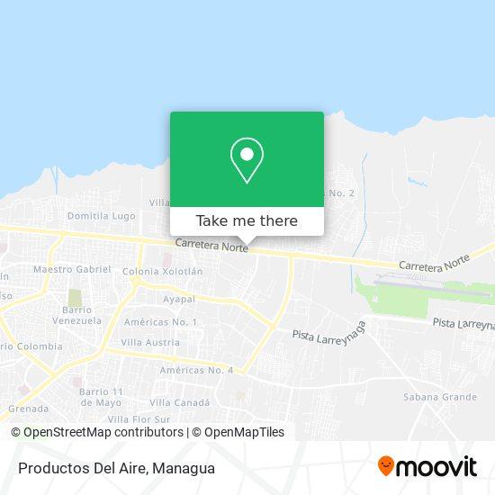 Productos Del Aire map