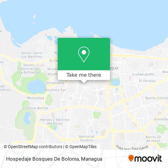 Hospedaje Bosques De Bolonia map
