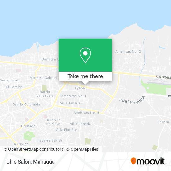 Chic Salon map