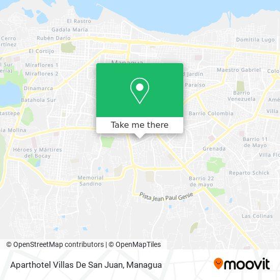 Aparthotel Villas De San Juan map