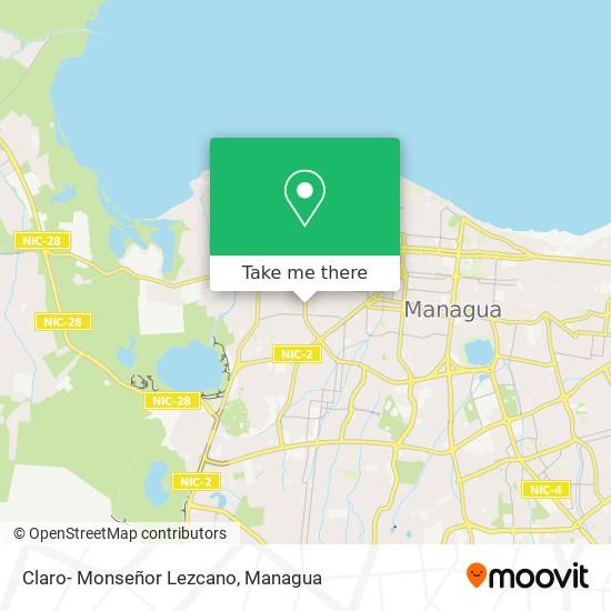 Claro- Monseñor Lezcano map