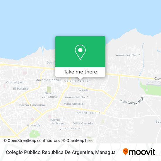 Colegio Republica De Argentina map