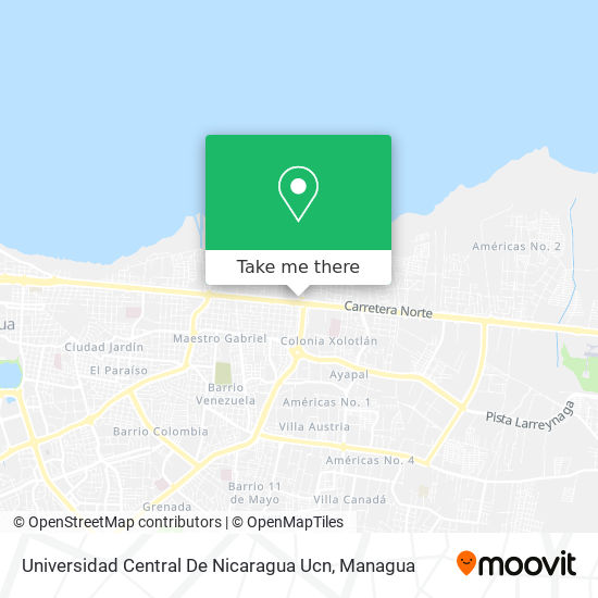 Universidad Central De Nicaragua Ucn map