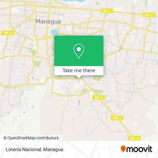 Loteria Nacional map