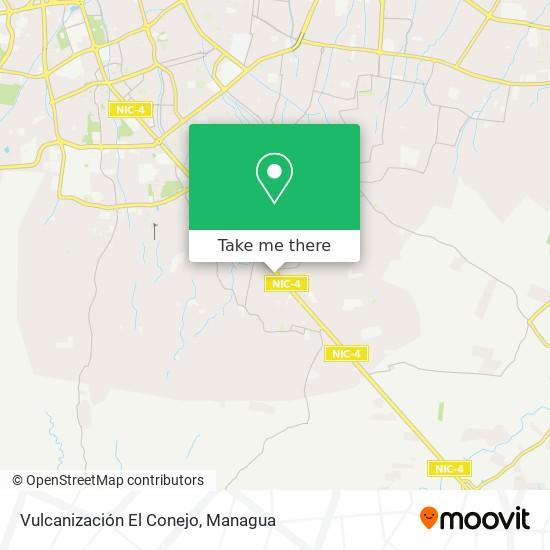 Vulcanización El Conejo map