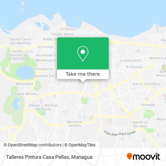 Talleres Casa Pellas map