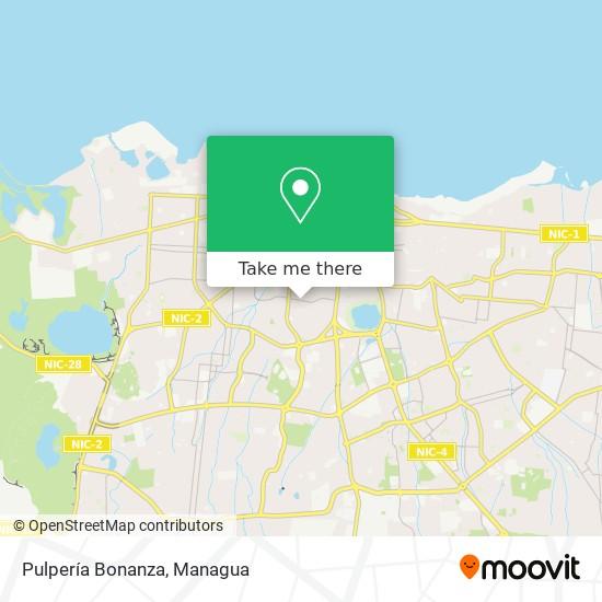 Pulpería Bonanza map
