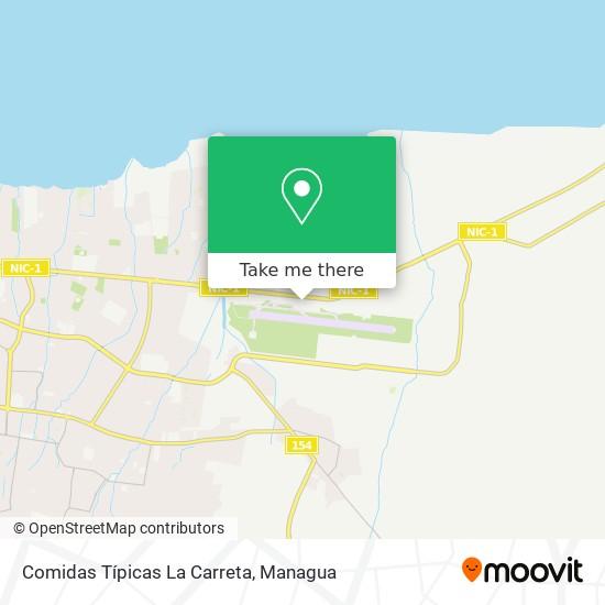 Comidas Típicas La Carreta map