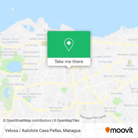 Velosa / Autolote Casa Pellas map