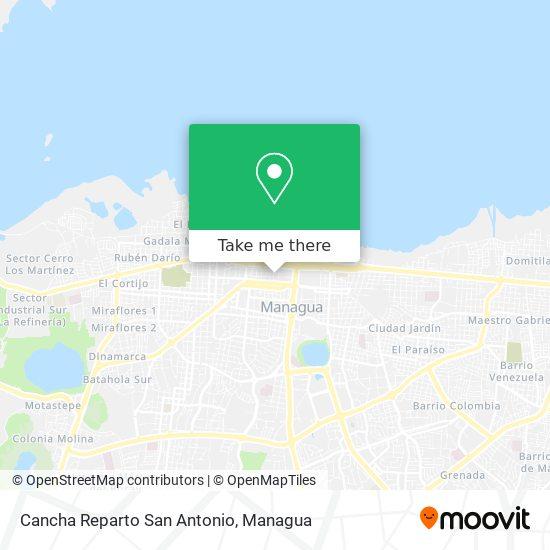 Cancha Reparto San Antonio map