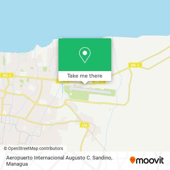 Aeropuerto Internacional Augusto C. Sandino map