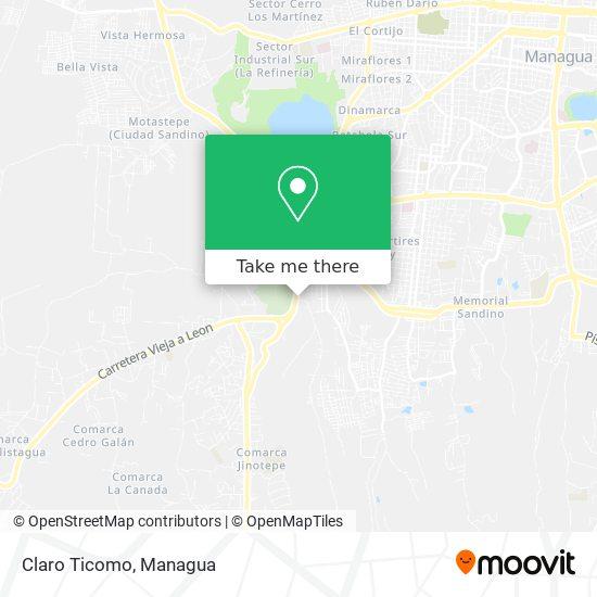 Claro Ticomo map