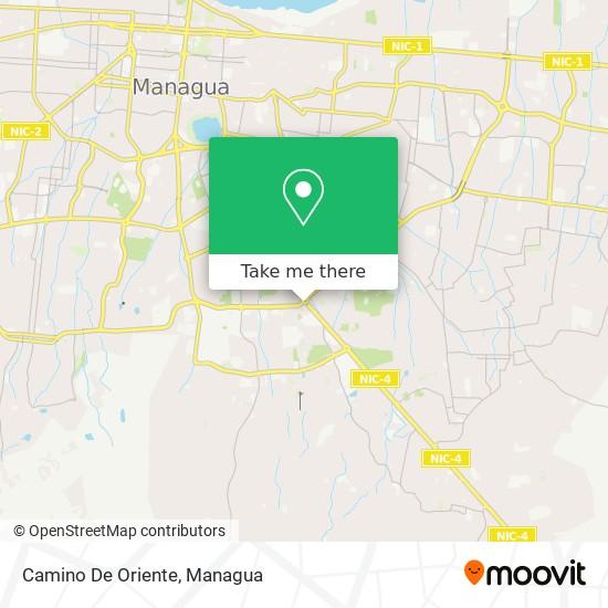Camino De Oriente map