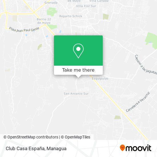 Club Casa España map