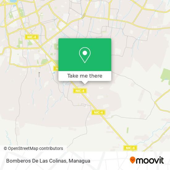 Bomberos De Las Colinas map