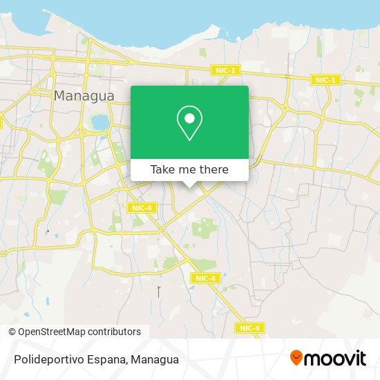 Polideportivo Espana map