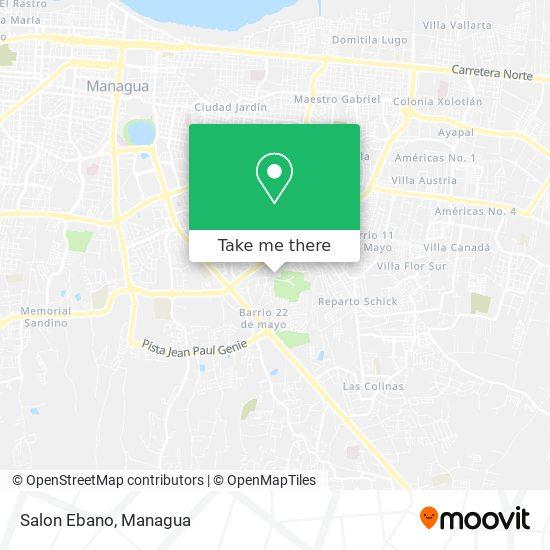 Salon Ebano map
