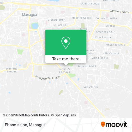 Ebano salon map
