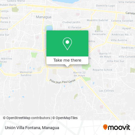 Unión Villa Fontana map