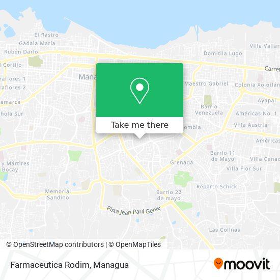 Farmaceutica Rodim map