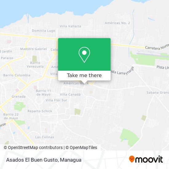 Asados El Buen Gusto map