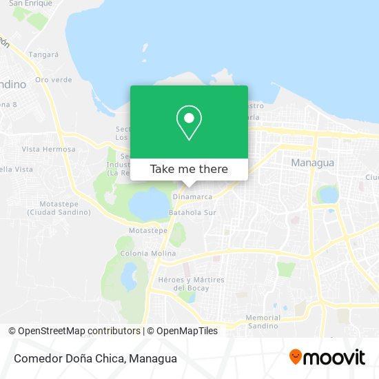 Comedor Doña Chica map