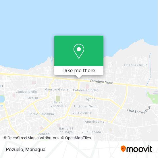 Pozuelo map