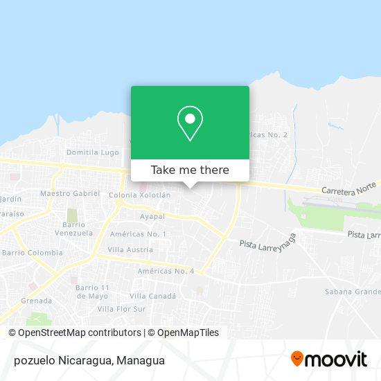 pozuelo Nicaragua map