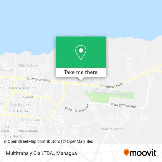 Multitrans y Cia LTDA. map