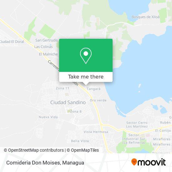 Comideria Don Moises map