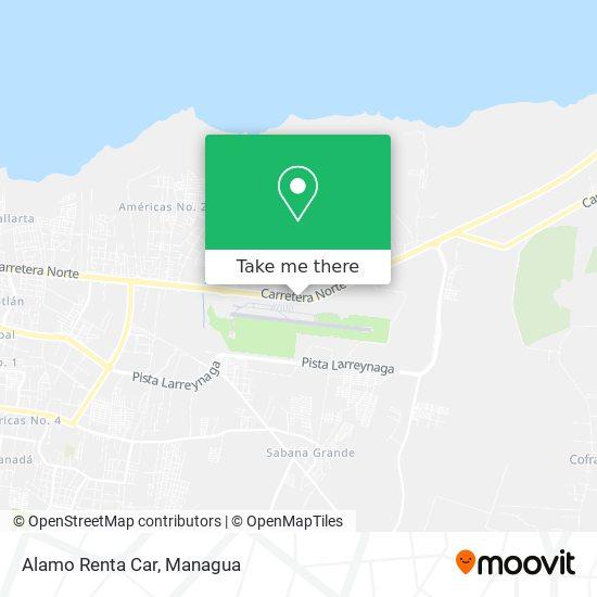 Alamo Renta Car map