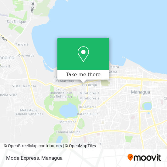 Moda Express map